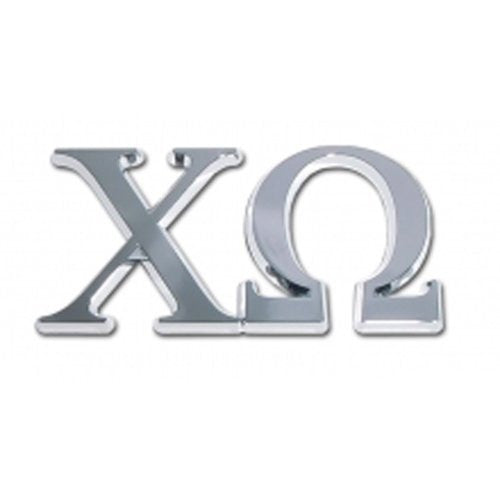 Chi Omega Sorority Chrome Emblem