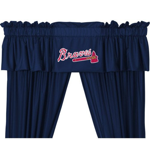 VALANCE Atlanta Braves- Color Midnight - Size 88x14