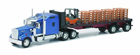 1/32 Kenworth W900 Flatbed with Forklift & Pallet