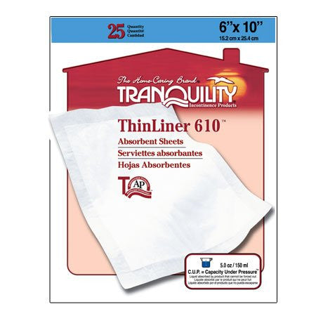 Thinliner 610 Absorbent Sheet - Small, 25-Count (Pack of 4)