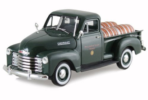 Signature Models - Chevy Pickup Truck w/ Barrels (1950, 1/32 scale diecast model car, Green)
