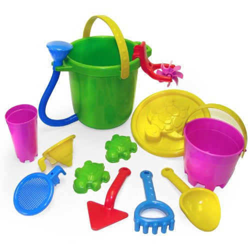 12pc Sand & Water Bucket Playset
