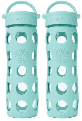 2-Pack Lifefactory 16-Ounce Beverage Bottles- Turquoise