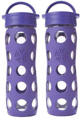 2-Pack Lifefactory 16-Ounce Beverage Bottles- Royal Purple