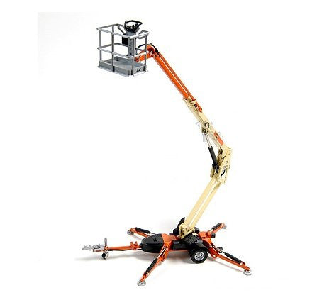 JLG Series 2 - Trailer Mounted Boom Lift (1:32, Orange/ Yellow)