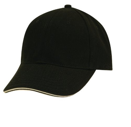 Dorfman Pacific Mens Cotton Adjustable Structured Baseball Cap (Black Stone)