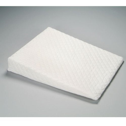 "Foam Wedge w/ White Quilted Zippered Cover 32"" x 26"" x 5"" to 1/2"""