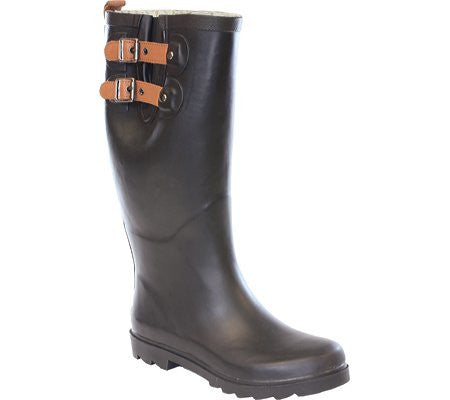 Chooka Top Solid Womens Size 5 Black Rubber Rain Boots UK 2.5