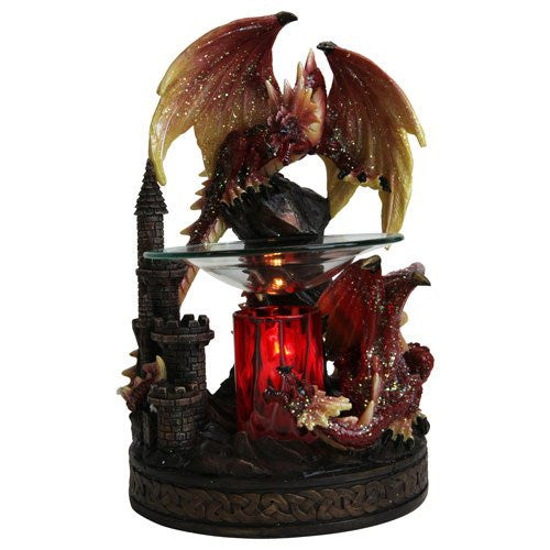ELECTRIC RED DRAGON OIL WARMER
