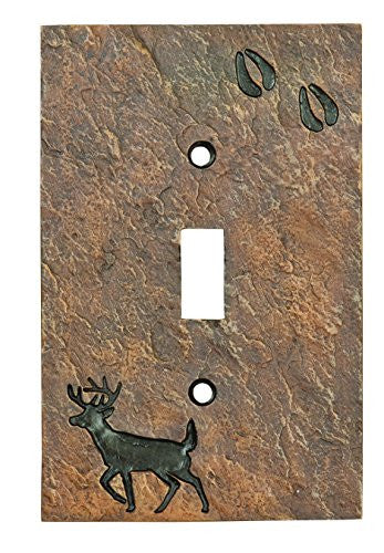 Deer with Tracks Single Switch Plate