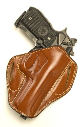 Pancake Holster Combat Grip, Tan Leather