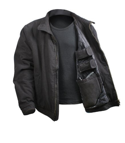Black Rothco 3-Season Concealed Weapon Jacket - Large