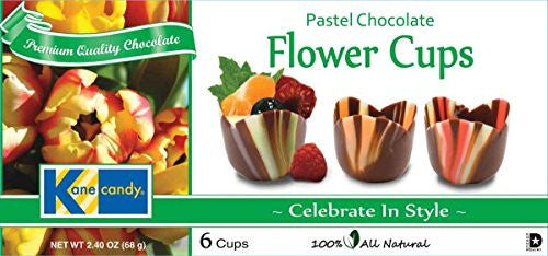Pastel Chocolate Flower Cups
