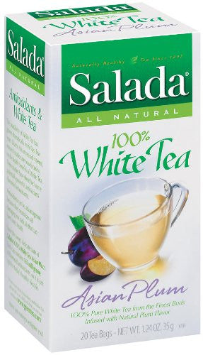 100% White Tea, Asian Plum 20.0 BG (Pack of 6)