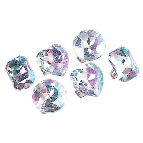 JUMBO CRYSTAL RINGS/24-BX