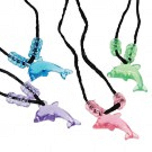 DOLPHIN NECKLACES - 12pcs