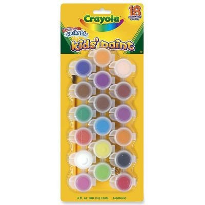 Crayola - Washable Kid's Paint - Set of 18 Colors