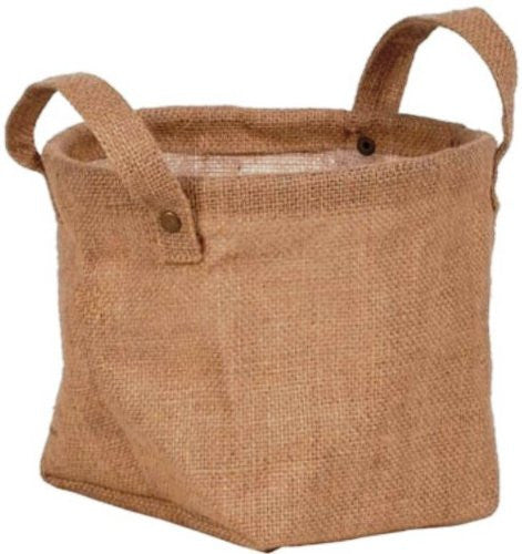 "Round Burlap Planter with Ears - Fits a 6.5"" Azalea Pot with Liner - Sold each (24 per case)"
