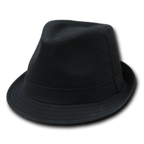 DECKY Basic Poly Woven Fedora Hats