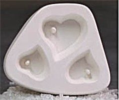 Heart Trio Earring & Pendant Jewelry Mold