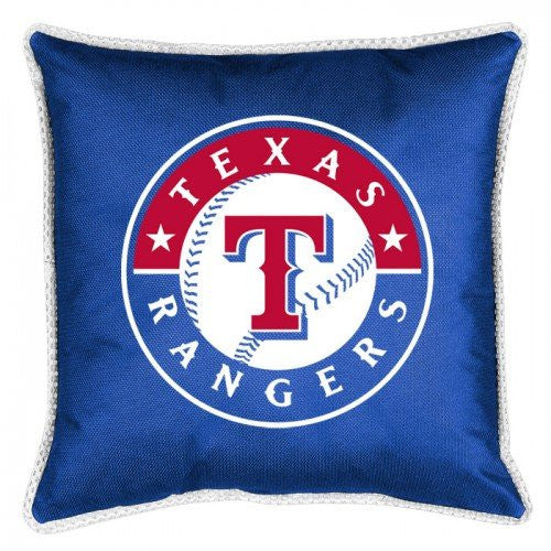 SIDELINES PILLOW Texas Rangers  - Color Bright Blue - Size 18x18