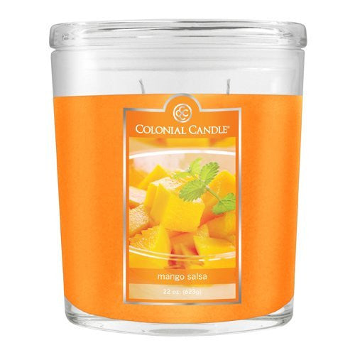 Mango Salsa 22 oz Scented Oval Candles, Pack of 2