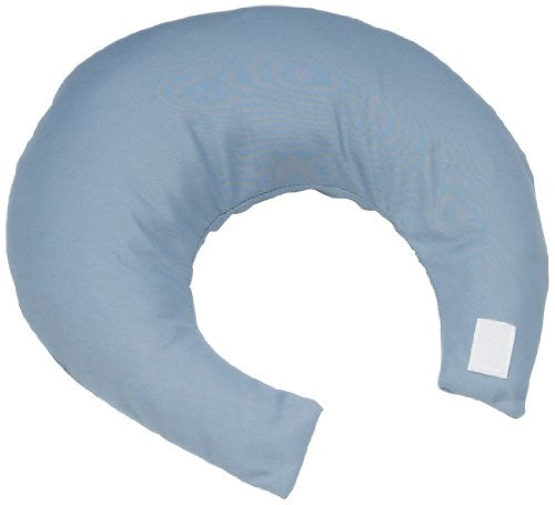 Comfy Pillow w/ Blue Satin Zippered Cover