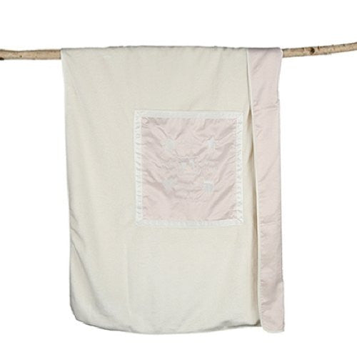 Signature Plush Receiving Blanket Pink/Cream 26x34
