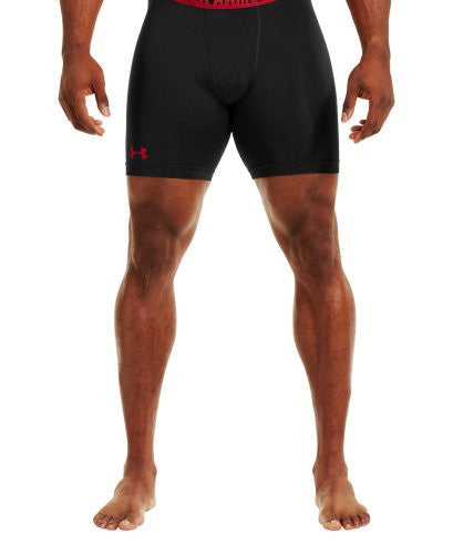 HeatGear Sonic Compression Short - Black/Red, 3X-Large