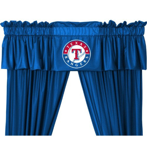 VALANCE Texas Rangers  - Color Bright Blue - Size 88x14