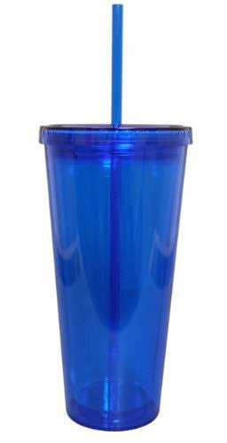 Classic Acrylic Tumbler Double Wall 20 oz, Royal Blue
