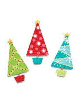 Embellish Your Story Modern Christmas Tree Magnets Set of 3