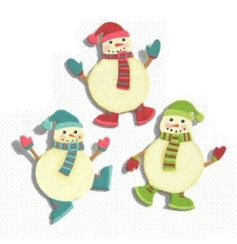 Embellish Your Story Snowmen Friends Magnets Set of 3 Assorted