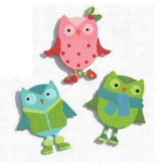 Embellish Your Story Owl Friends Magnets Set of 3 Assorted