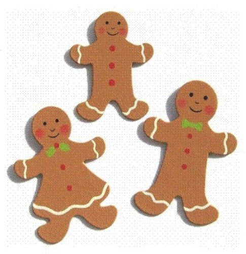 Embellish Your Story Gingerbread Family Magnets Set of 3