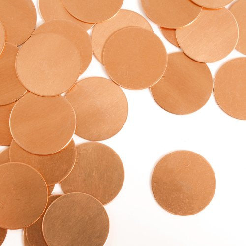 "Circle, 3/4""- Stamping Blank - Copper(24pc)"