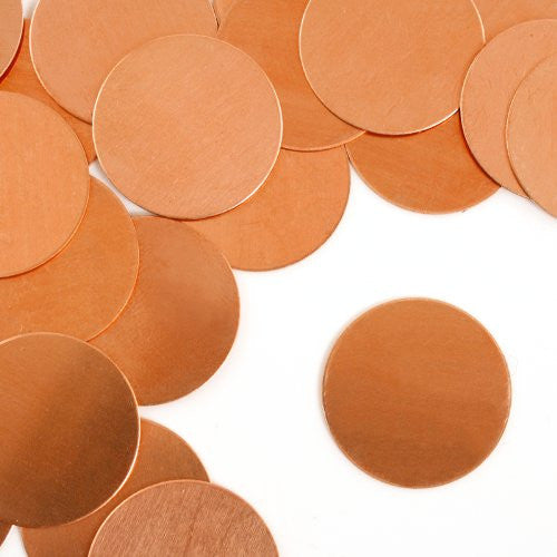 "Circle, 1""- Stamping Blank - Copper(24pc)"