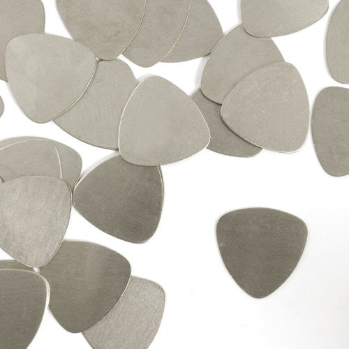"Guitar Pick, 7/8"" x 7/8""- Stamping Blank - Nickel Silver (24pc)"
