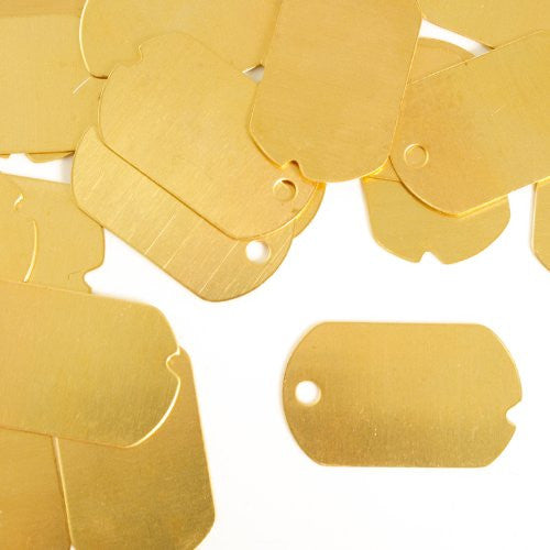 "Dog Tag, Military, 1 1/4""- Stamping Blank - Brass (24pc)"