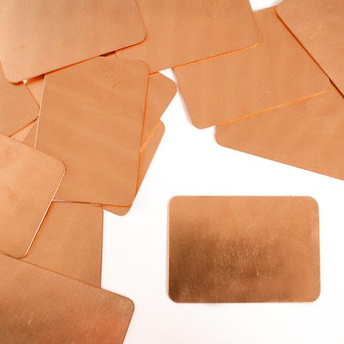 "Rectangle Tag, 2"" x 1 3/8""- Stamping Blank - Copper (24pc)"