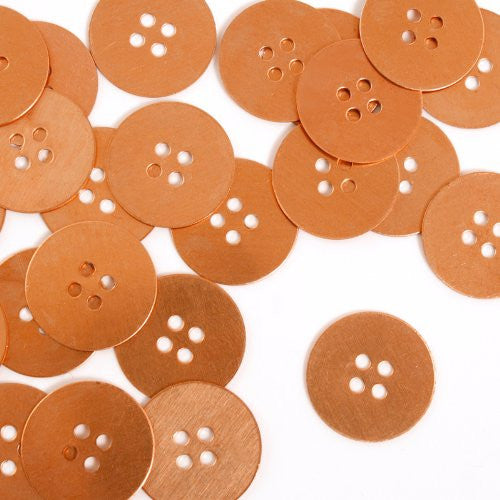 Button, Small- Stamping Blank - Copper (24 pc)