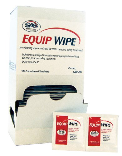 RESPIRATOR WIPES (100 per box)