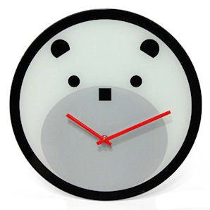 Bearly Time Wall Clock