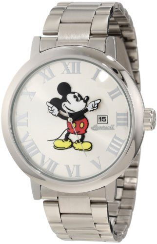 Ingersoll Unisex Disney Classic Time Presentation Mickey Metal Watch, Bracelet/ Silver Dial