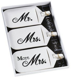 Mr. and Mrs. Luggage Tags, Set of 3