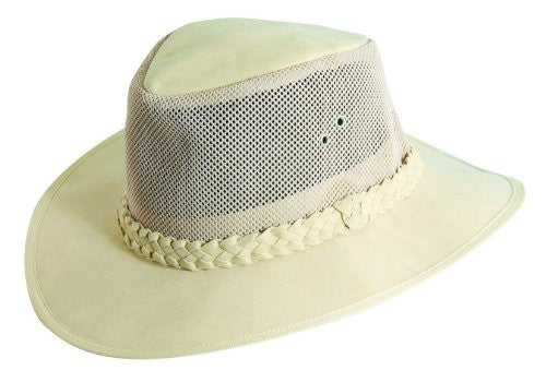 Dorfman Pacific Men's Soaker with Mesh Crown (Natural / Small/Medium)