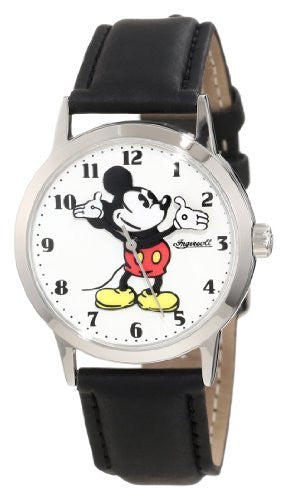 Ingersoll Watches Presentation Mickey Watch, Black Nu Buck-White Dial
