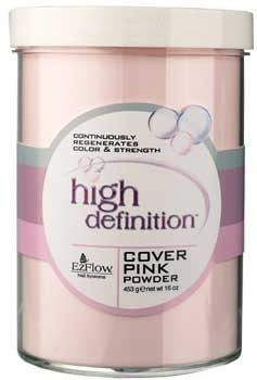 High Definition Powder False Nails,Cover Pink Powder, 16 Ounce