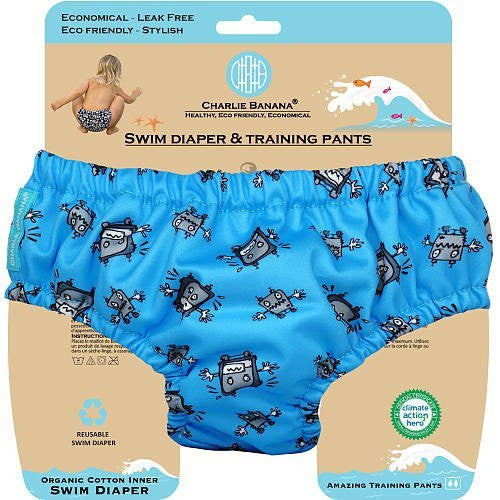Charlie Banana Reusable Swim Diaper & Training Pants X-Large (Robot Boy)