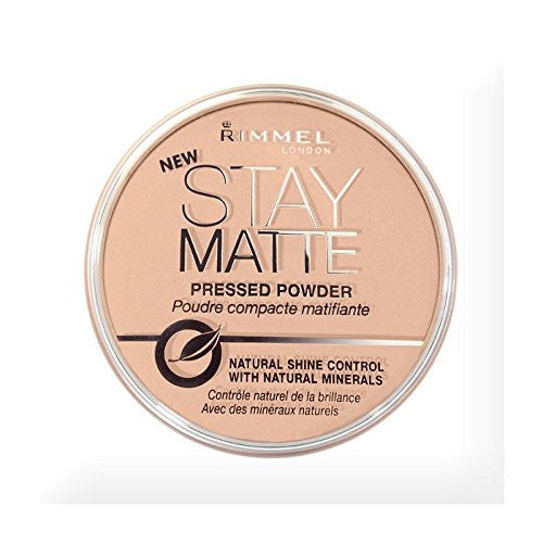 Rimmel London Stay Matte Pressed Powder, Sandstorm 004, 0.49 oz